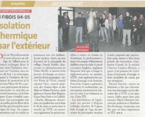 Isolation thermique par l'Exterieur TPBM n°1020. 9 avril 2014