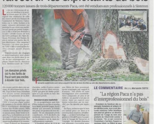 La Provence, 22 mai 2014